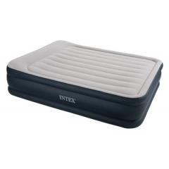 Кровать INTEX DELUXE высокая с подголовником, Queen, флок, насос 220В ( под заказ)