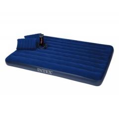 Кровать INTEX Стандарт, Queen, флок, ручн.насос, 2 подушки (152*203*22)