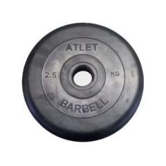 51мм  Атлет Диск обрезиненный . 1,25 - 25 кг