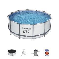 366х122см Каркасный бассейн Steel Pro Max 10250л, фил.-насос 2006л/ч, лестница, тент