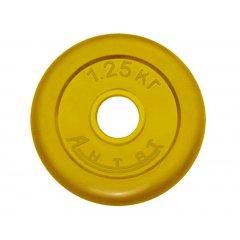 51мм Диск обрезиненный цветной Антат,  вес 1,25 - 25 кг