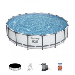 549х122 см,Каркасный бассейн 23062 л.,фильтр-насос 5678л/ч, тент, лестница