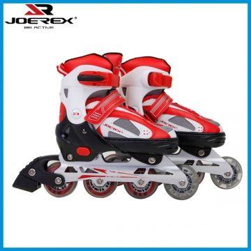 Роликовые коньки Joerex JRO09701 черно-красный , алюминиевая рама,ABEC-7