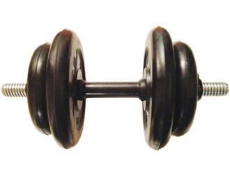 Гантель разборная готовая весом 15 кг (2 х 5 кг + 2 х 2,5 кг)