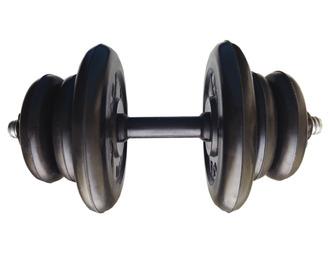 Гантель разборная готовая весом 15 кг (2 х 5 кг + 4 х 1,25 кг)