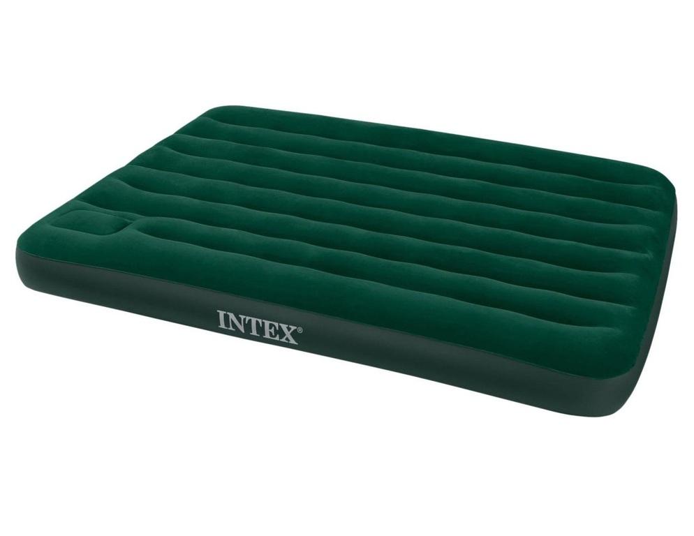 Кровать INTEX Стандарт DELUXE, Queen, флок, встроен.насос (152*203*22) ( под заказ)