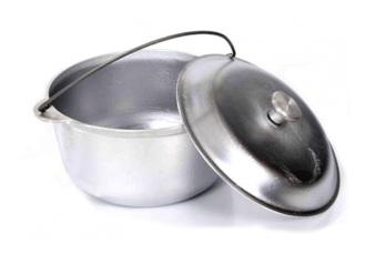 Казан КАЮР походный с крышкой, объем 2-10 литров