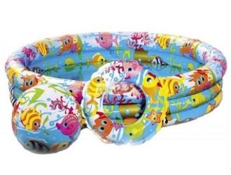 Бассейн надувной INTEX Веселые рыбки (132x28 см.)