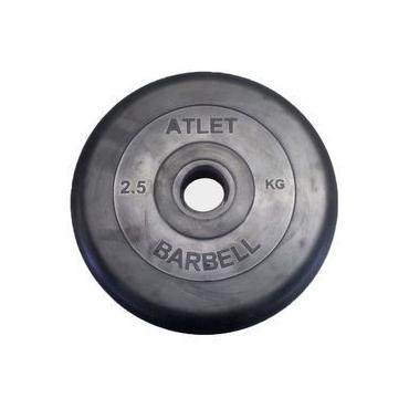 Диск обрезиненный Атлет  (черн.) диаметр 51 мм. 1,25 - 25 кг