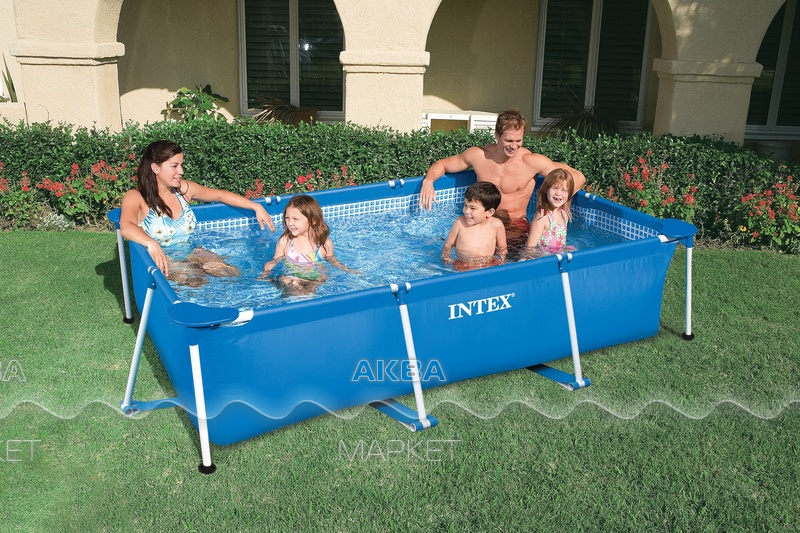 220 х 150 х 60 см INTEX RECTANGULAR FRAME бассейн