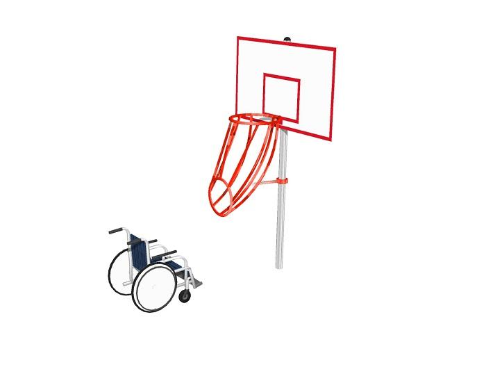 Баскетбольная стойка для людей с ограниченными возможностями