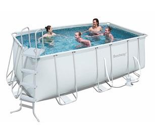 412х201х122 см Bestway каркасный бассейн, 8124 л, фильтр-насос 2006л/ч, лестница(нет в наличии)