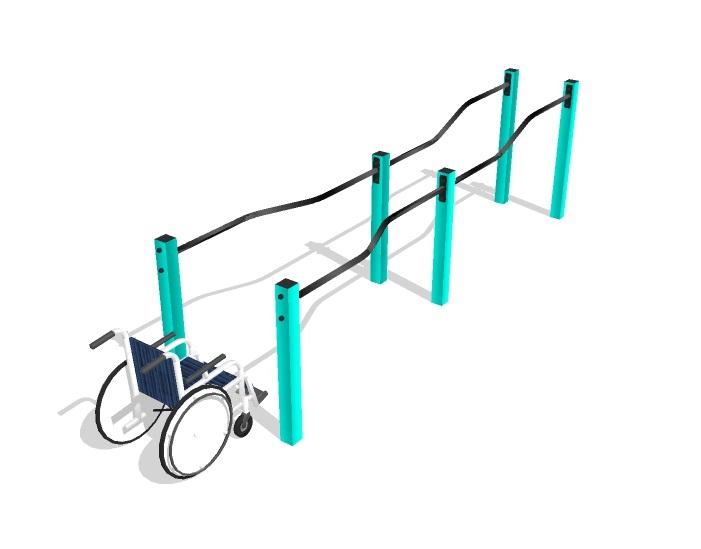 Брусья разноуровневые с возможностью занятий для инвалидов и лиц с ОВЗ