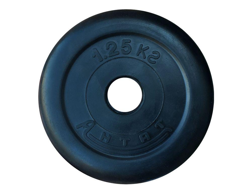 Диск обрезиненный Антат, диаметр 26 мм, вес 1,25 - 25 кг