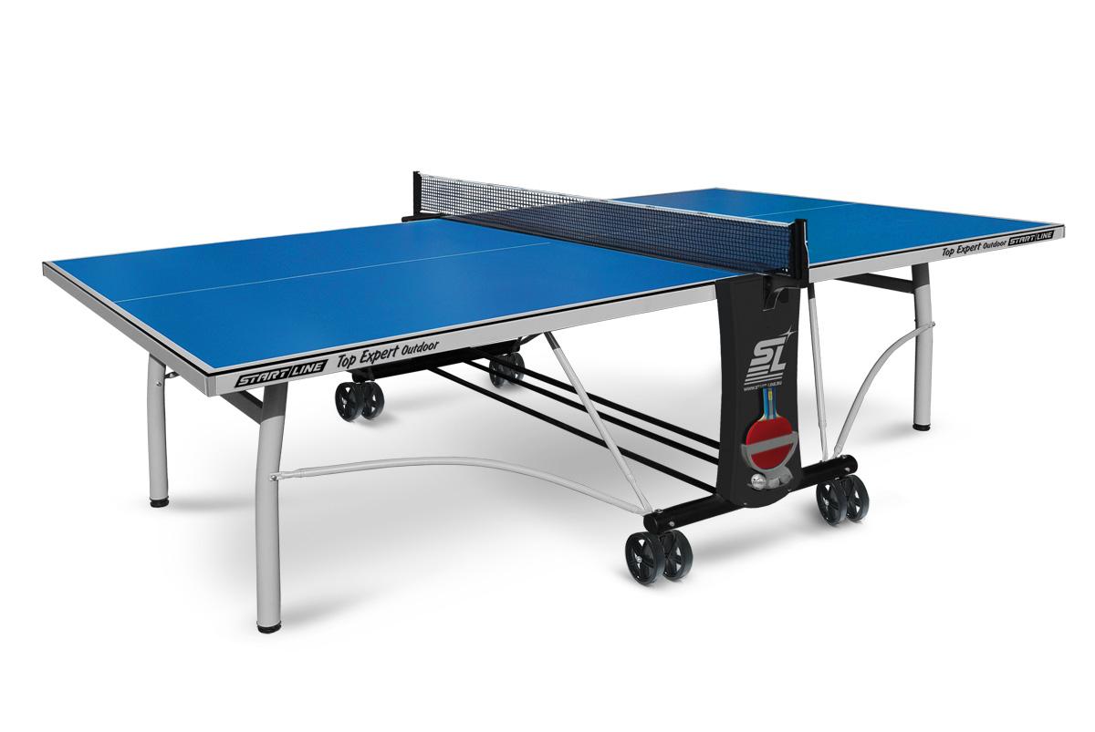 Top Expert Outdoor - всепогодный топовый теннисный стол. Уникальная система складывания