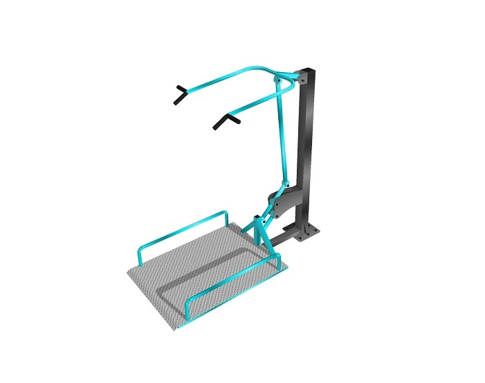 Вертикальная Тяга уличный тренажер для инвалидов