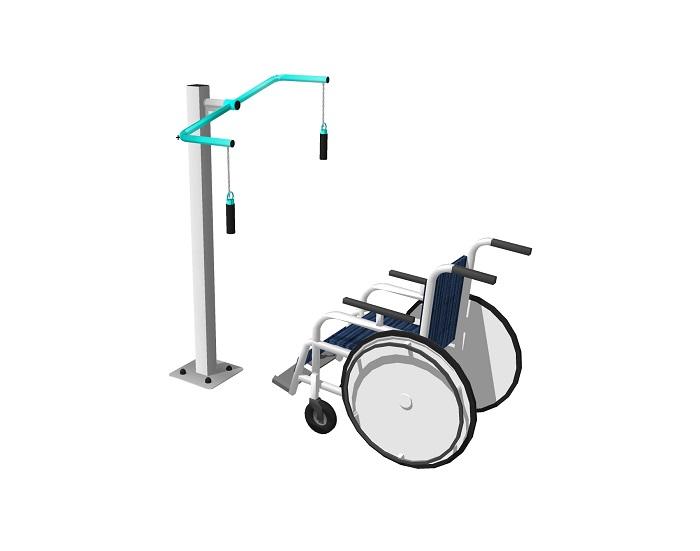 Тяни толкай  для инвалидов Уличный тренажер