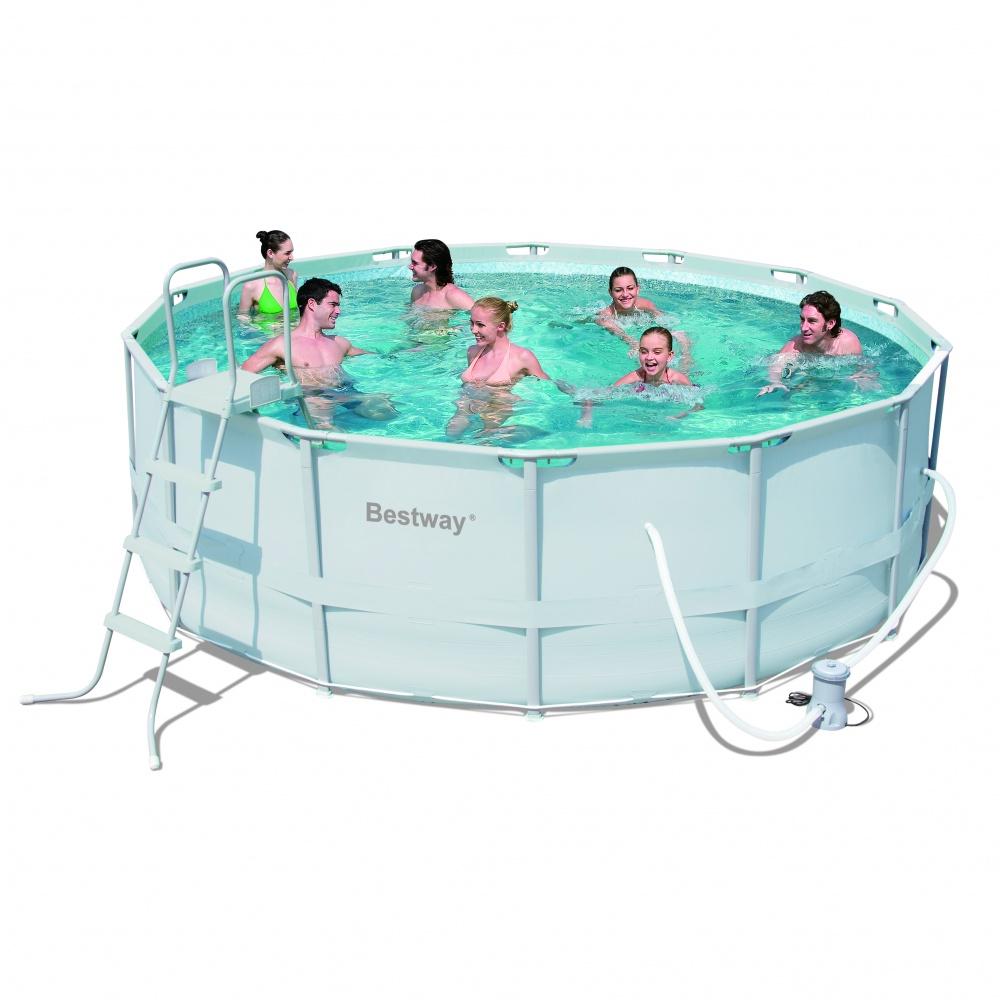 427х122 см Каркасный бассейн 15232 л, фильтр-насос 3028л/ч,тент, лестница