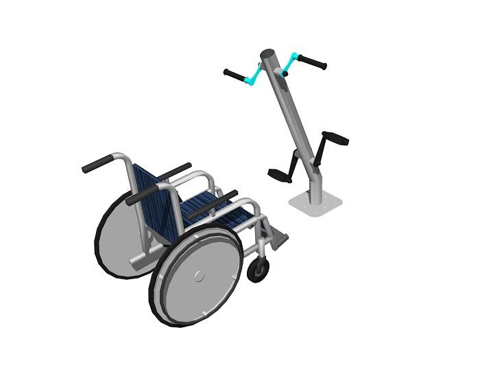 Ручной и ножной велосипед Уличный тренажер