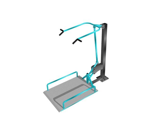 Подтягивание на платформе Уличный тренажер для инвалидов