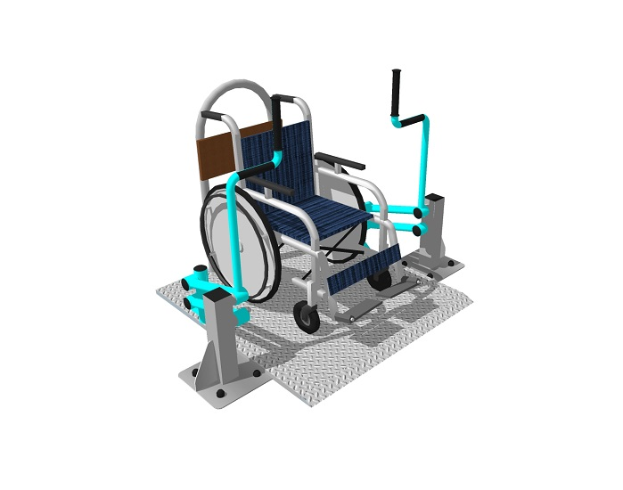 «Жим на платформе» Уличный тренажер для инвалидов